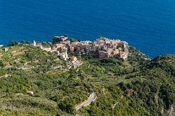 The view from San Bernardino, Corniglia, Italy
