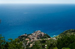 The view from the trail to Volastra, Corniglia, Italy