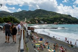 The beach, Levanto, Italy