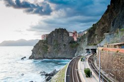 The train station, Manarola, Italy