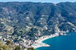 The view from Capo Mesco, Monterosso, Italy