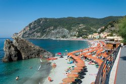 The beach, Monterosso, Italy