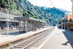 The train station, Monterosso, Italy