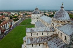 View of the Cathedral from the Leaning Tower, Pisa, Italy