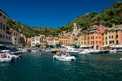 View from the boat, Portofino, Italy
