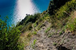 Trail from San Bernardino to Vernazza, Cinque Terre, Italy