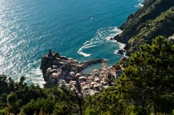 View from the trail to San Bernardino, Vernazza, Italy