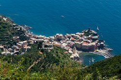 The view from the Sanctuary of Reggio, Vernazza, Italy